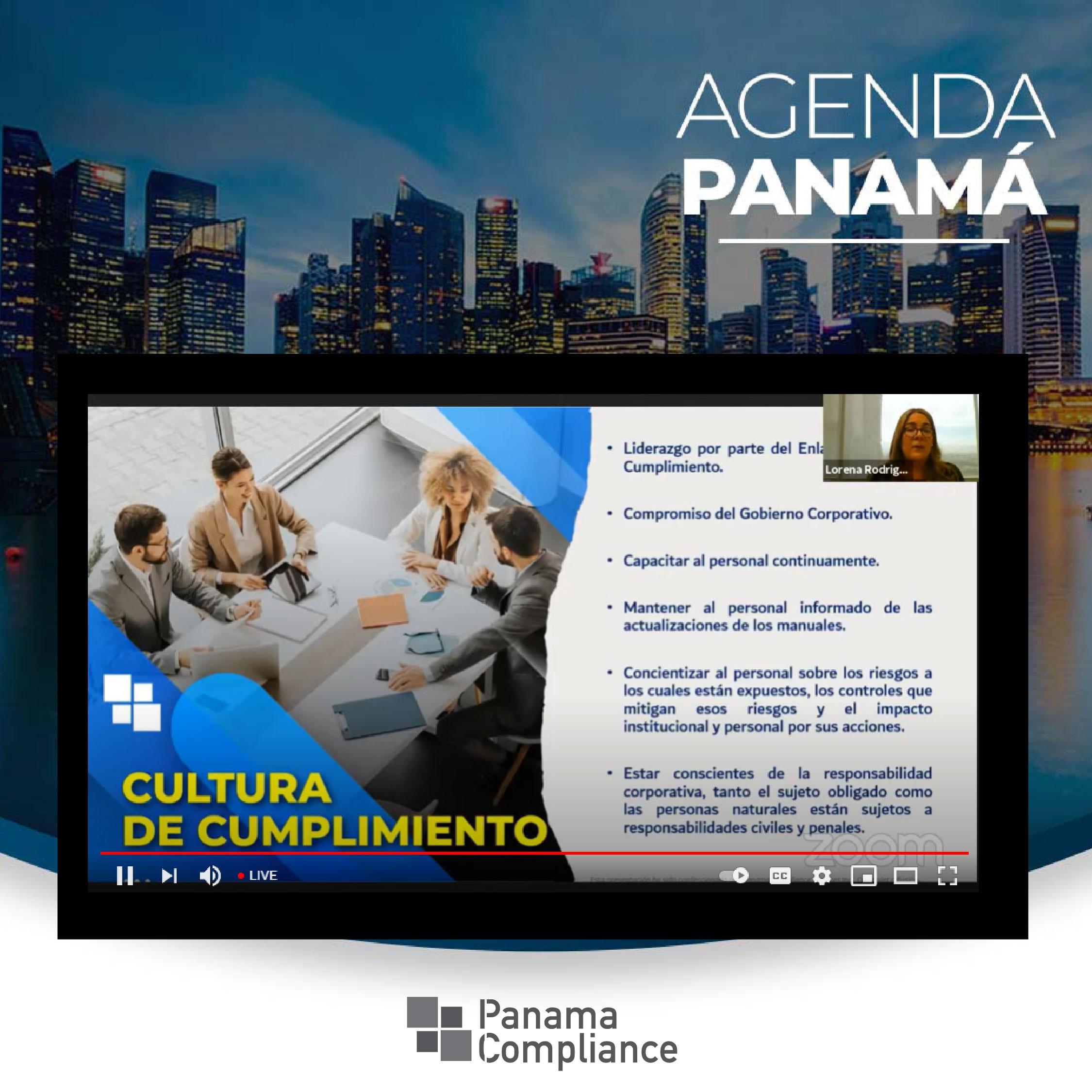 Panama Compliance participó en la conferencia virtual Agenda Panamá